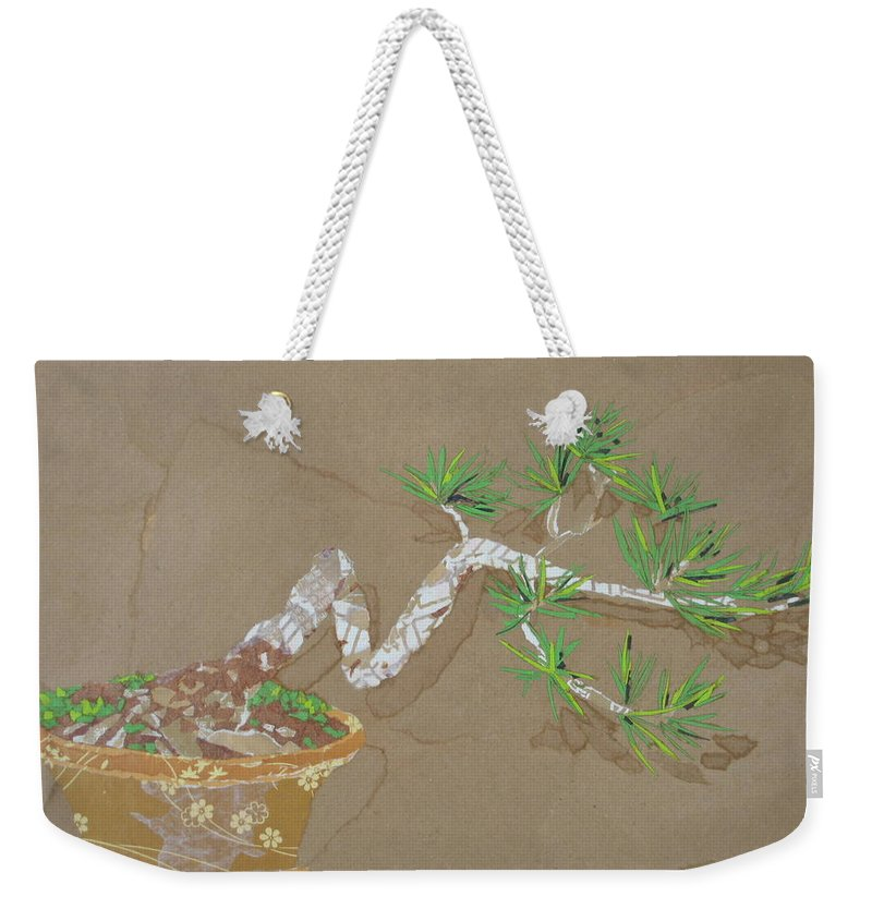 Banzai Tree Weekender Tote Bag featuring the painting For Inge by Leah Tomaino
