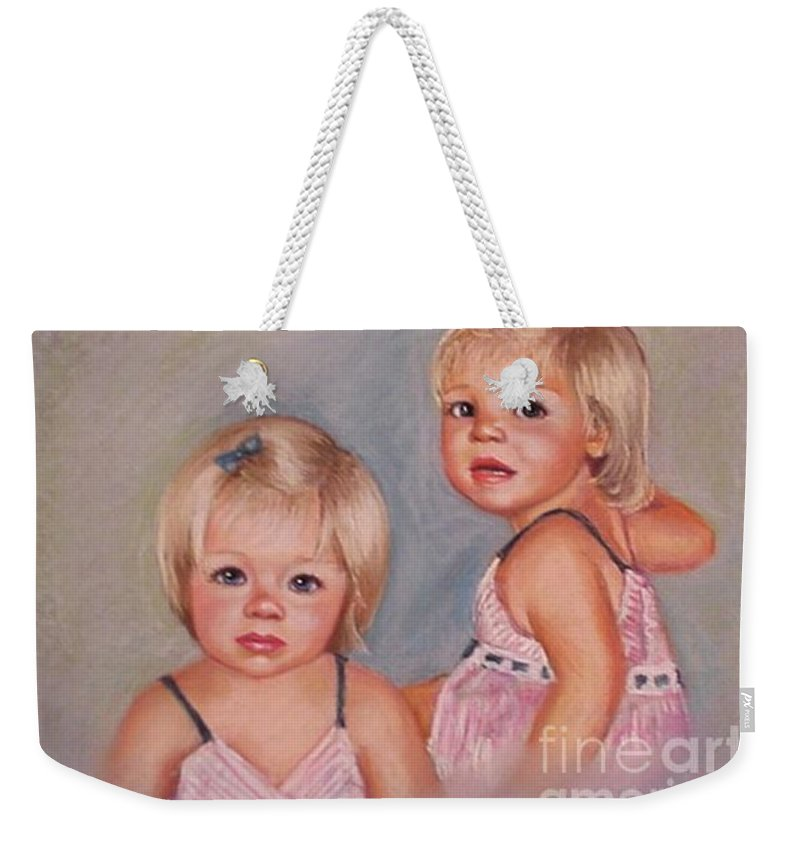 Pastel Portrait Weekender Tote Bag featuring the pastel for Lisa by Beverly Boulet