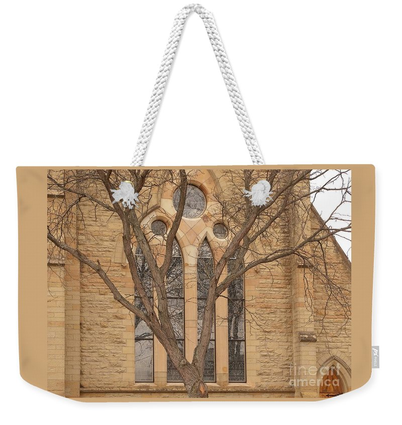 Church Weekender Tote Bag featuring the photograph For Reflection by Ann Horn