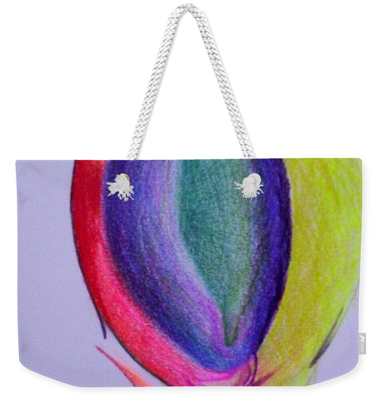 Abstract Weekender Tote Bag featuring the painting For Sol by Suzanne Udell Levinger
