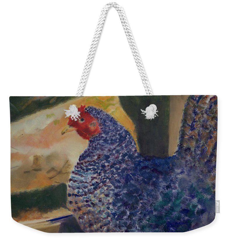 Animal Weekender Tote Bag featuring the painting For The Birds by Paula Emery