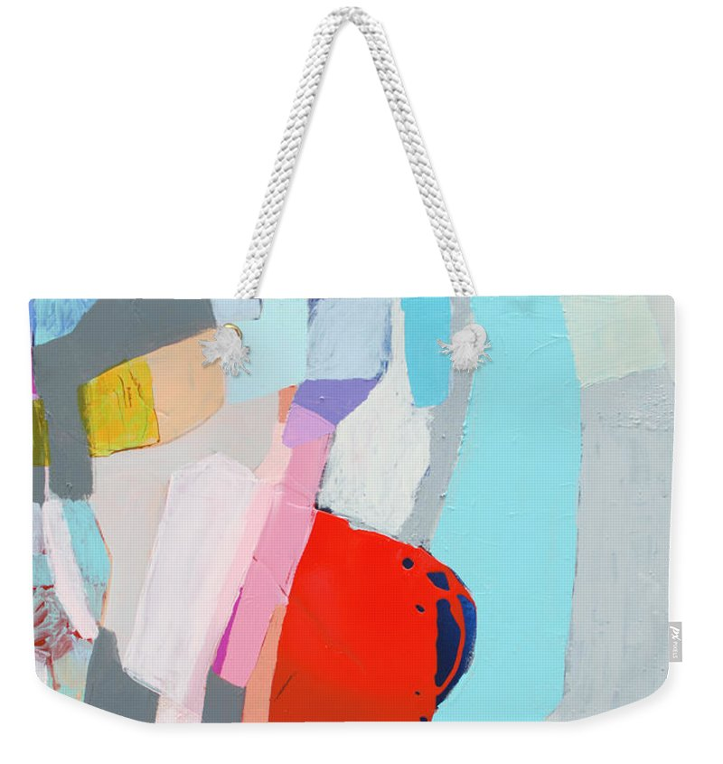 Abstract Weekender Tote Bag featuring the painting For What You Are by Claire Desjardins