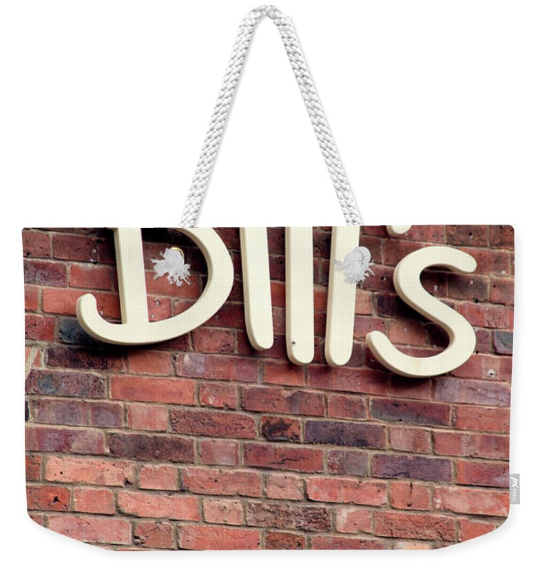 Leeds Weekender Tote Bag featuring the photograph For William by Jez C Self