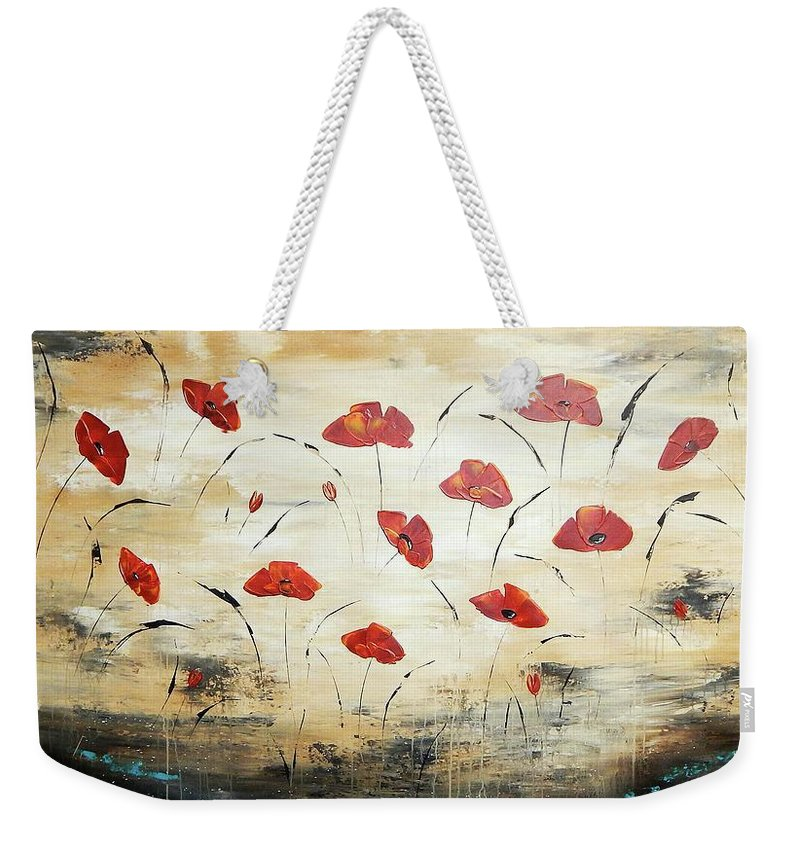 Painting Weekender Tote Bag featuring the painting For You by Ilonka Walter