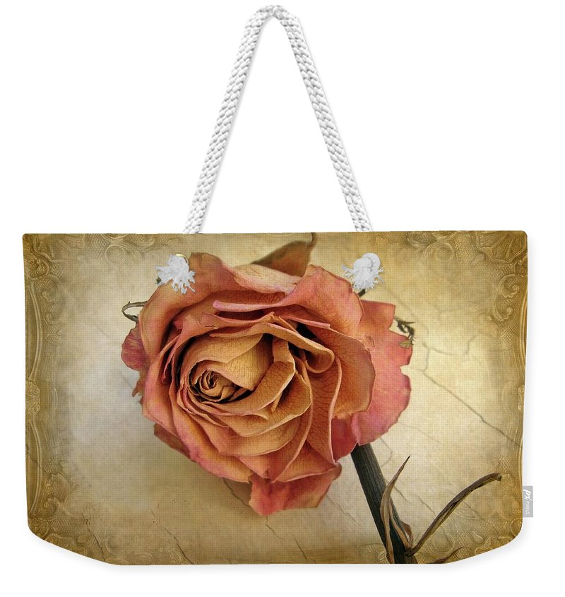 Flower Weekender Tote Bag featuring the photograph For You by Jessica Jenney
