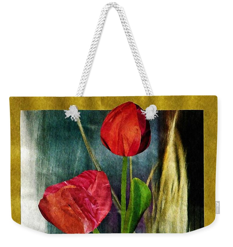 Hand Weekender Tote Bag featuring the mixed media For You by Sarah Loft