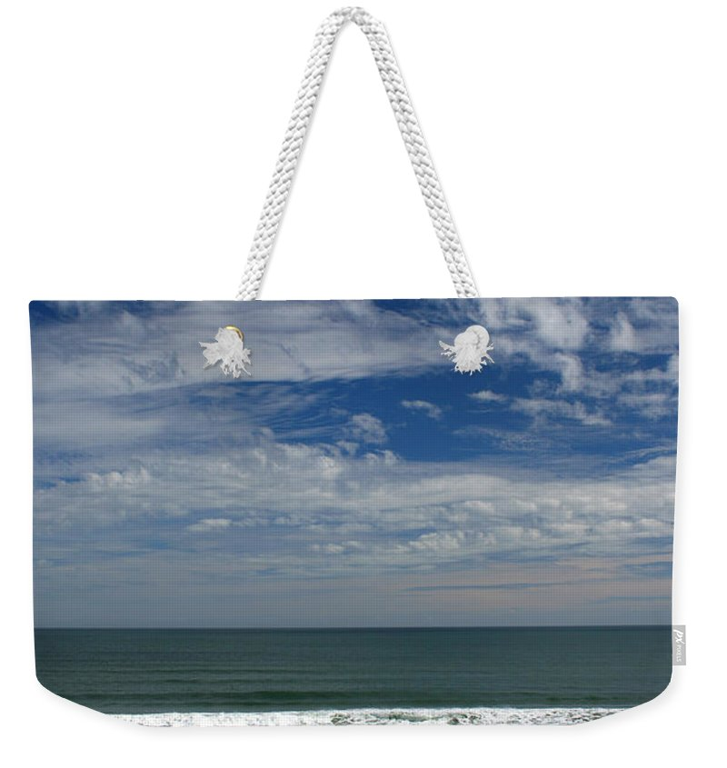 Beach Sky Cloud Clouds Blue Water Wave Waves Palmtree Tree Palm Sand Sun Sunny Vacation Travel Weekender Tote Bag featuring the photograph For Your Pleasure by Andrei Shliakhau