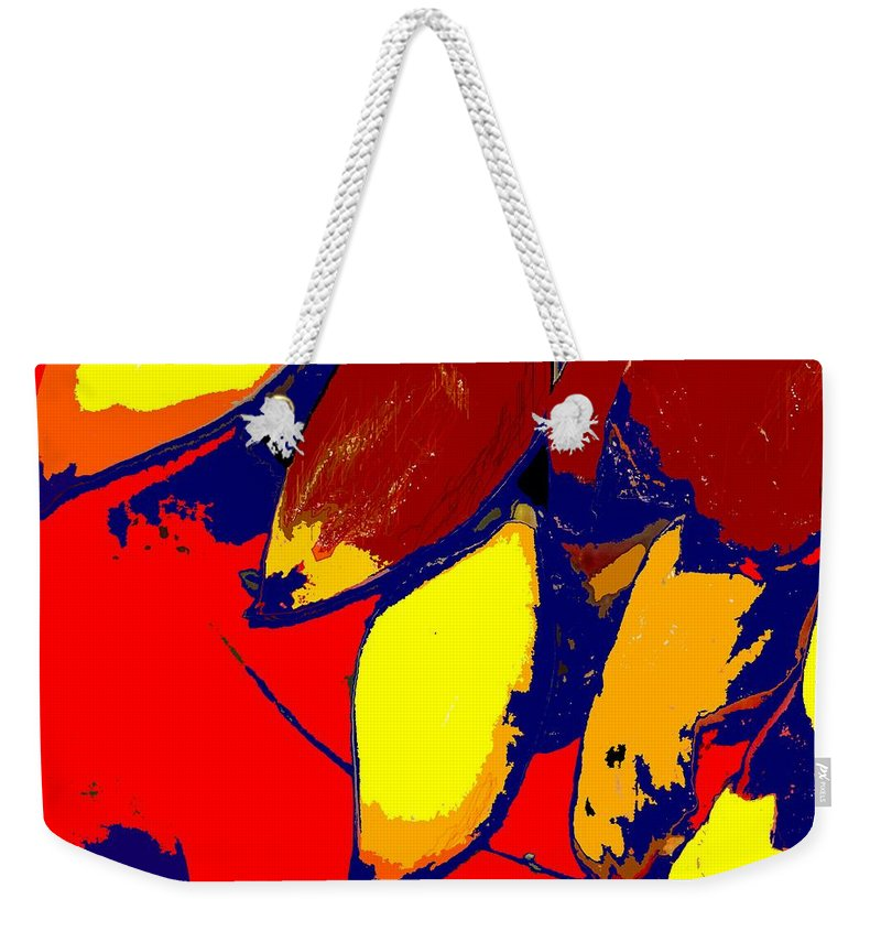 Red Weekender Tote Bag featuring the photograph Forbidden Fruit by Ian MacDonald