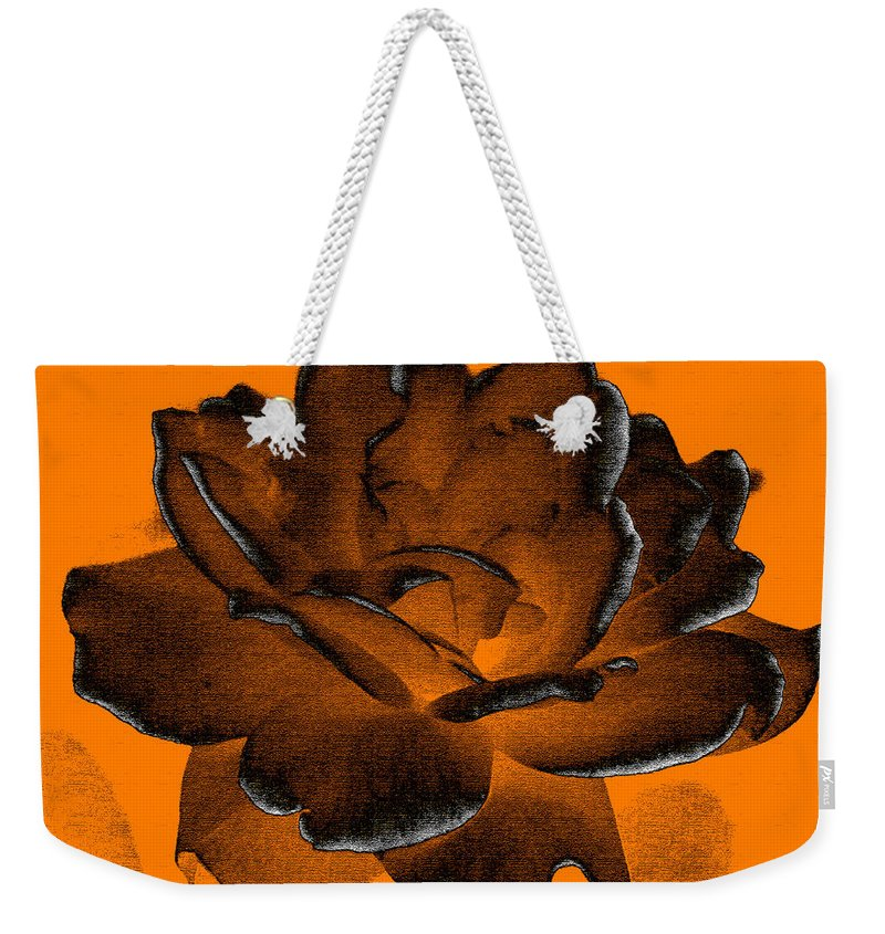 Rose Weekender Tote Bag featuring the photograph Forced Into Shape by Amanda Barcon