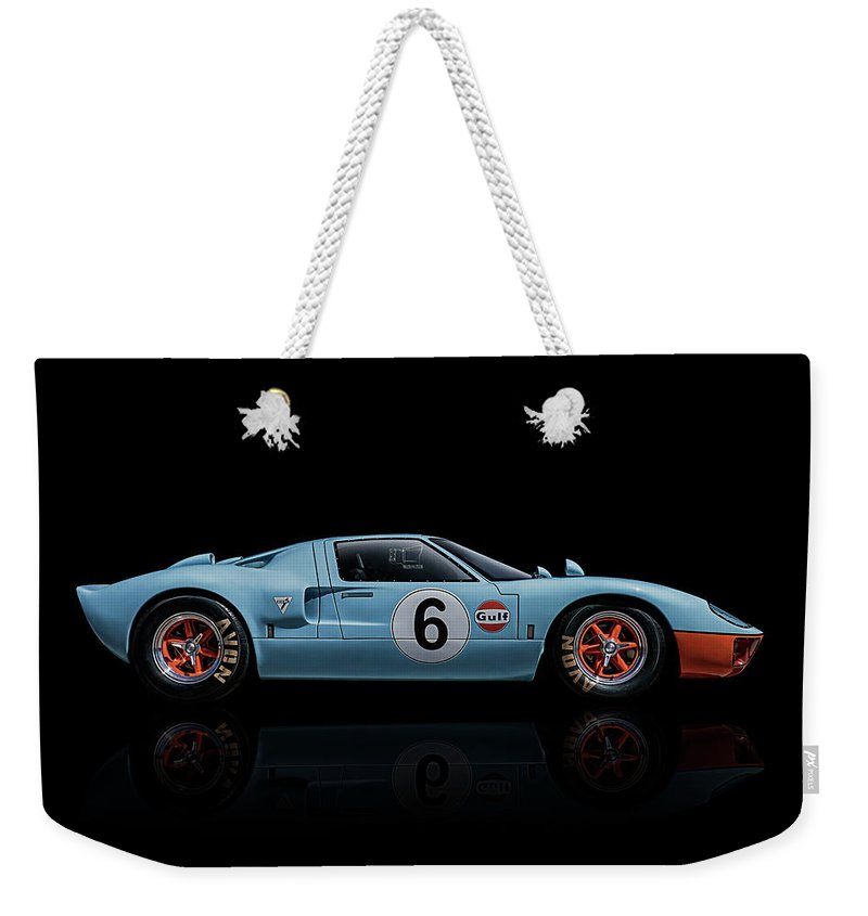 Ford Weekender Tote Bag featuring the digital art Ford Gt 40 by Douglas Pittman