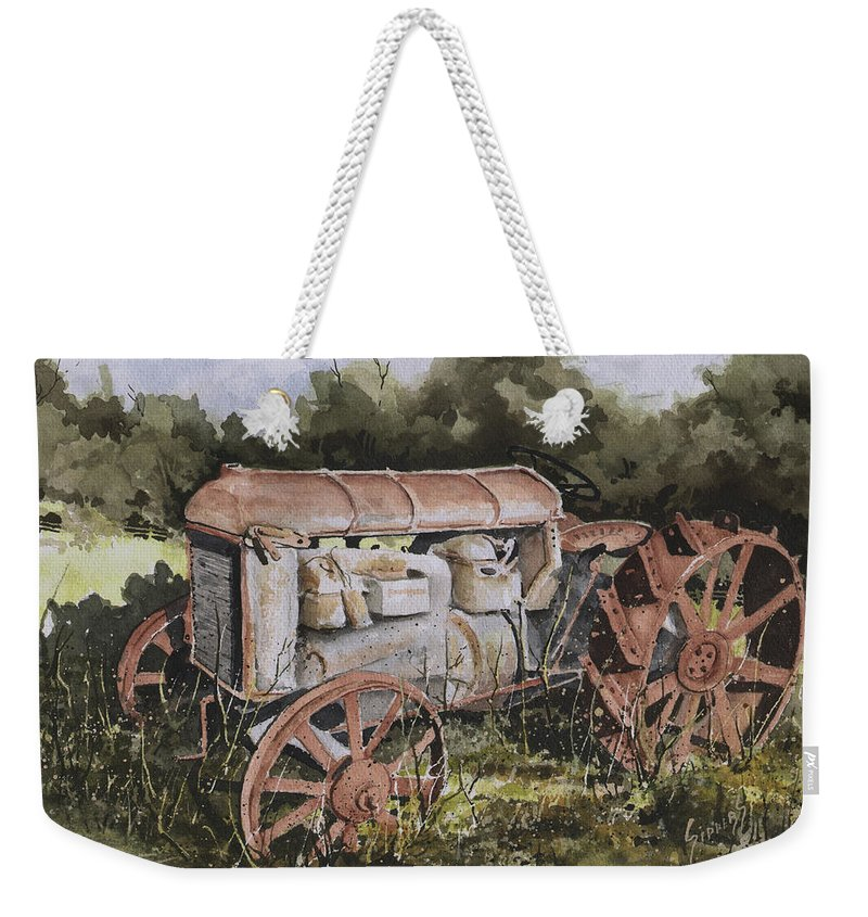 Farm Weekender Tote Bag featuring the painting Fordson Model F by Sam Sidders