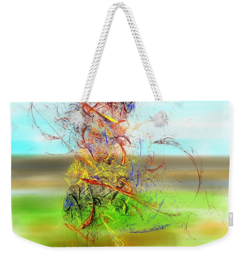 Digital Painting Weekender Tote Bag featuring the digital art Fore by David Lane