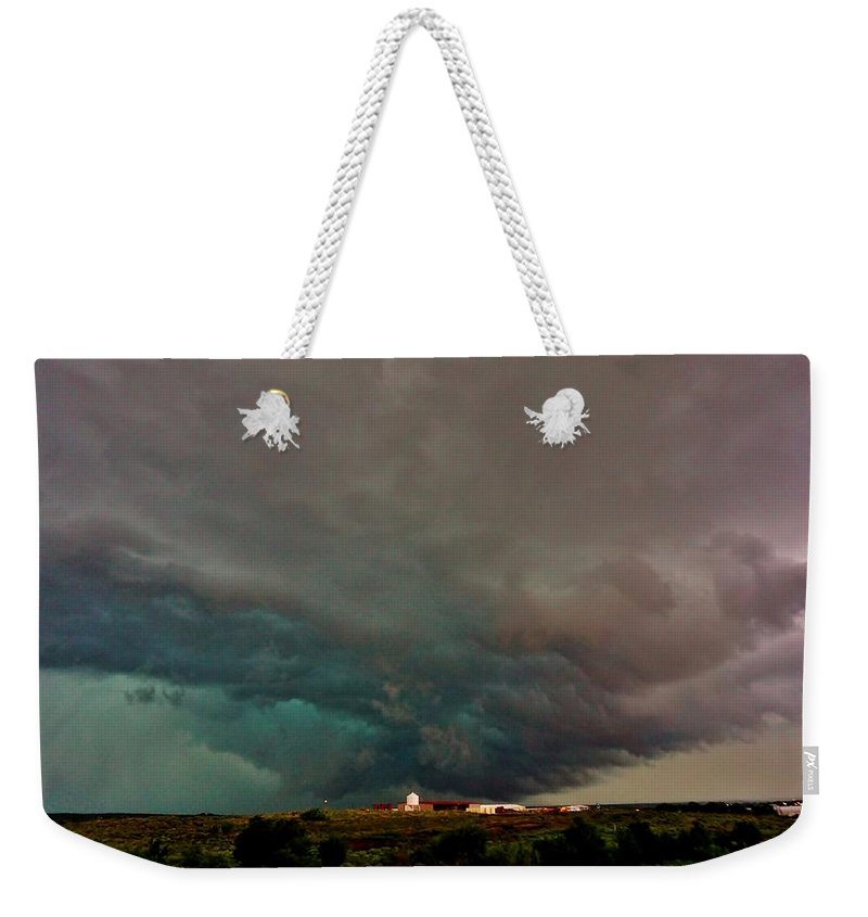 Tornado Weekender Tote Bag featuring the photograph Foreboding Skies by Ed Sweeney