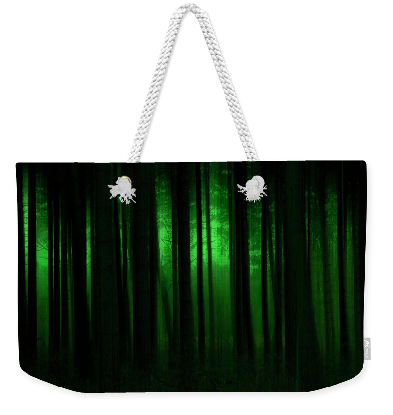 Forest Weekender Tote Bag featuring the photograph Forest Abstract03 by Svetlana Sewell