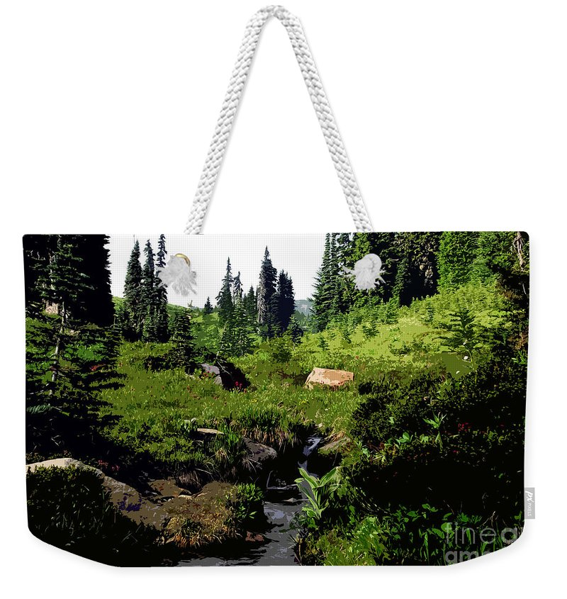 Forest Weekender Tote Bag featuring the painting Forest by David Lee Thompson