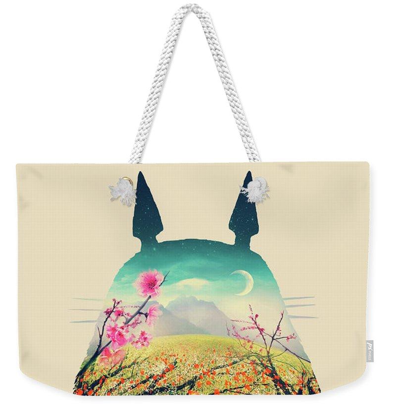Flower Forest Weekender Tote Bags