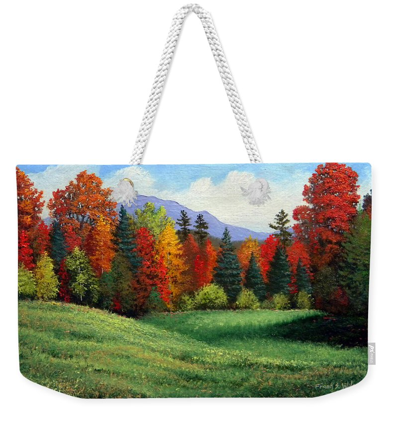 Autumn Weekender Tote Bag featuring the painting Forest Edge by Frank Wilson