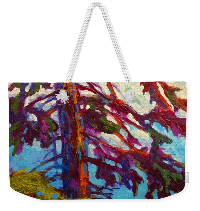 Trees Weekender Tote Bag featuring the painting Forest Elder by Marion Rose