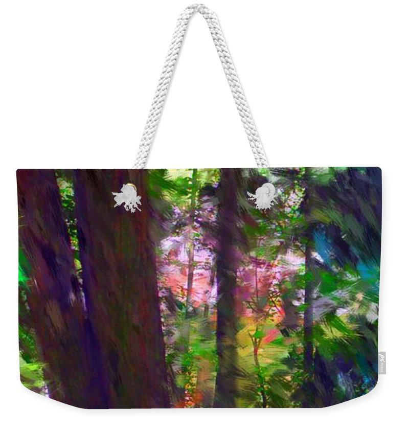 Digital Photography Weekender Tote Bag featuring the digital art Forest For The Trees by David Lane