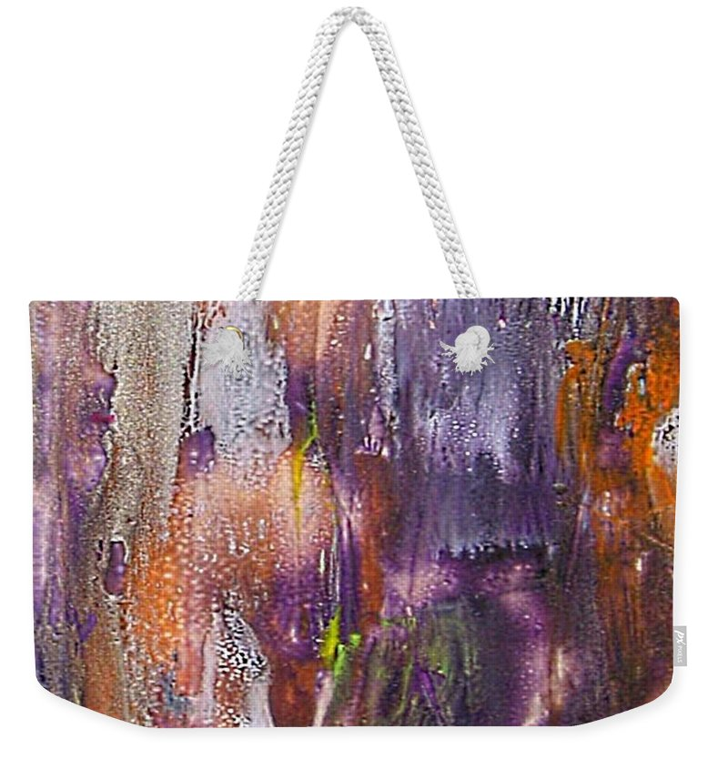Forest Ghost Weekender Tote Bag featuring the painting Forest Ghost by Dragica Micki Fortuna