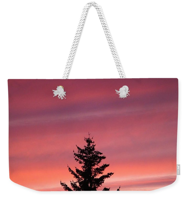 Sunset Photo Weekender Tote Bag featuring the photograph Forest Grove Sunset by Nick Gustafson