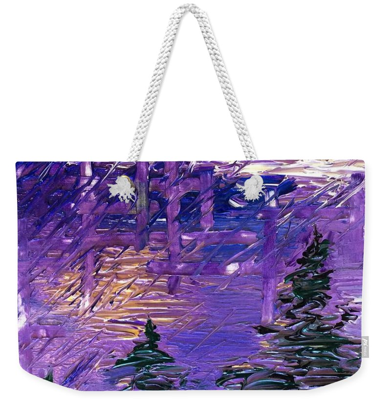 Forest Weekender Tote Bag featuring the painting Forest In Lsd by Noah Babcock