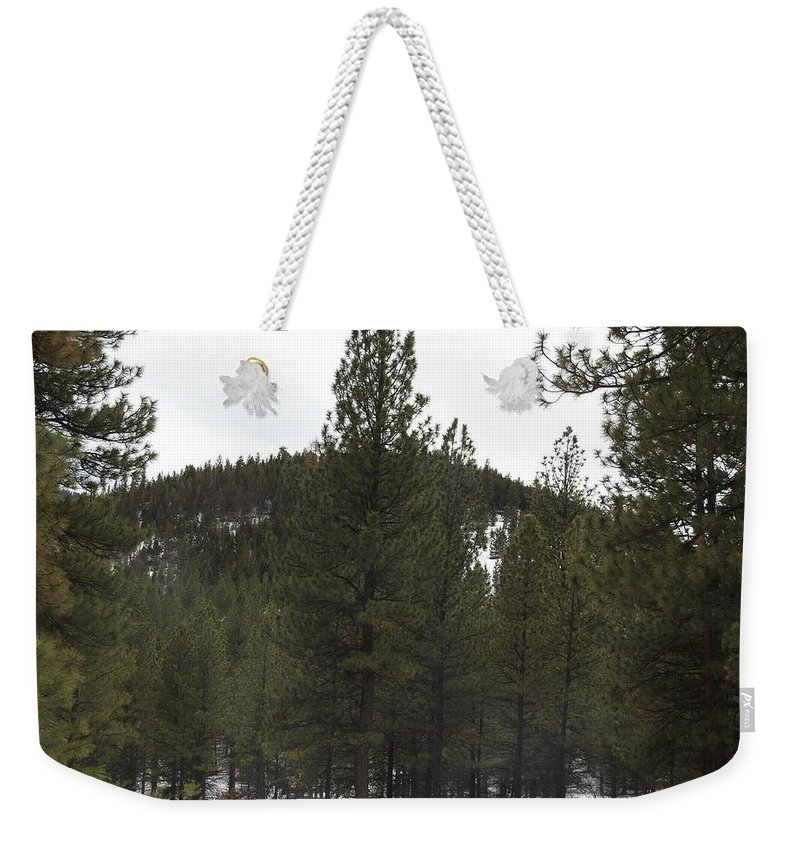 Weekender Tote Bag featuring the photograph Forest Mountain Redux by Dan Hassett