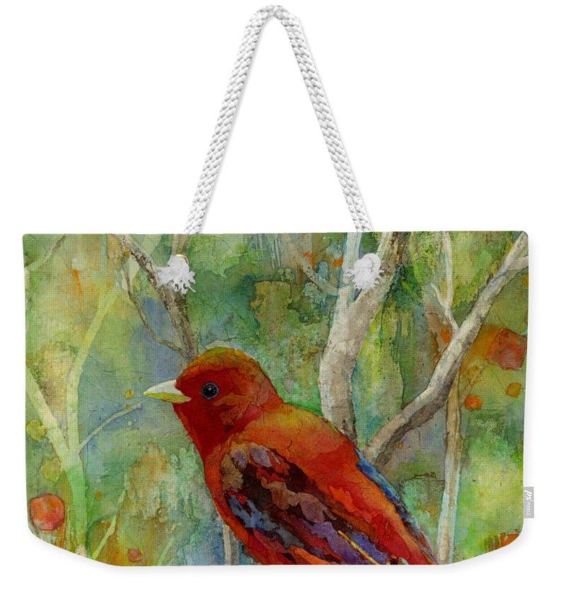 Redbird Weekender Tote Bags