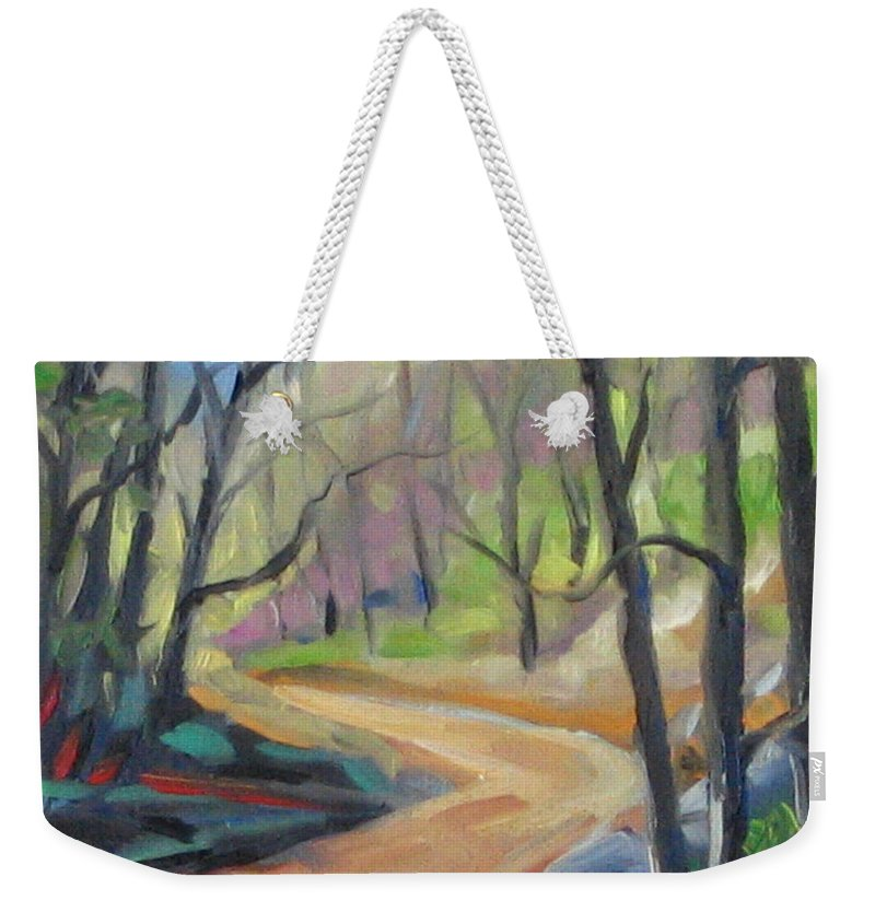 Art Weekender Tote Bag featuring the painting Forest Way by Richard T Pranke