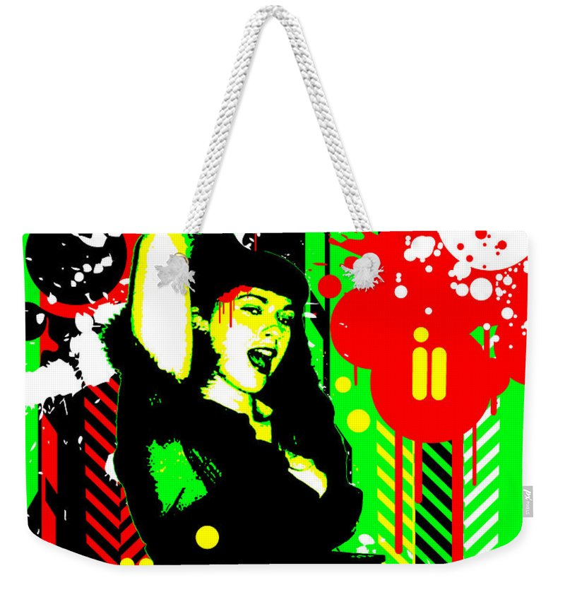 Nostalgic Seduction Weekender Tote Bag featuring the digital art Forever Pinup I by Chris Andruskiewicz