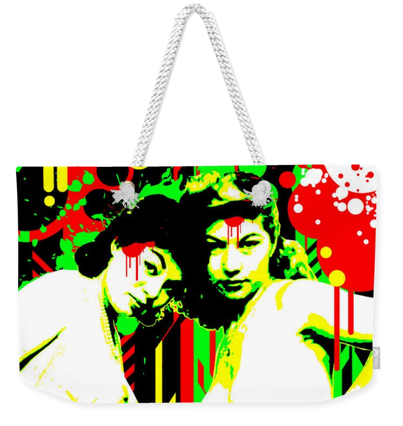 Nostalgic Seduction Weekender Tote Bag featuring the digital art Forever Pinup II by Chris Andruskiewicz