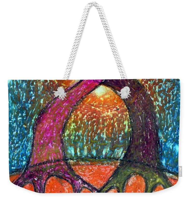 Colour Weekender Tote Bag featuring the mixed media Forget About Light by Wojtek Kowalski