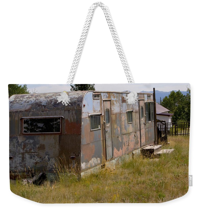 Landscape Weekender Tote Bag featuring the photograph Forgotten Home by Jeffery Ball
