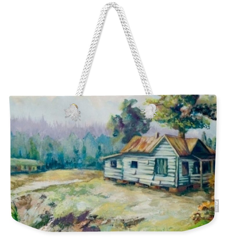 Old Houses Weekender Tote Bag featuring the painting Forgotten Places II by Elisabeta Hermann