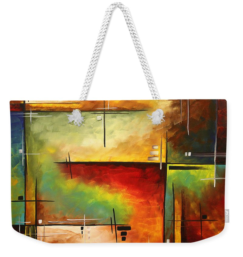 Abstract Weekender Tote Bag featuring the painting Forgotten Promise By Madart by Megan Duncanson