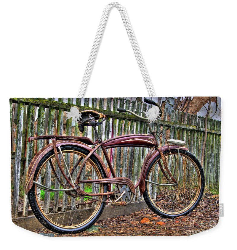 Bicycle Weekender Tote Bag featuring the photograph Forgotten Ride 1 by Jim And Emily Bush