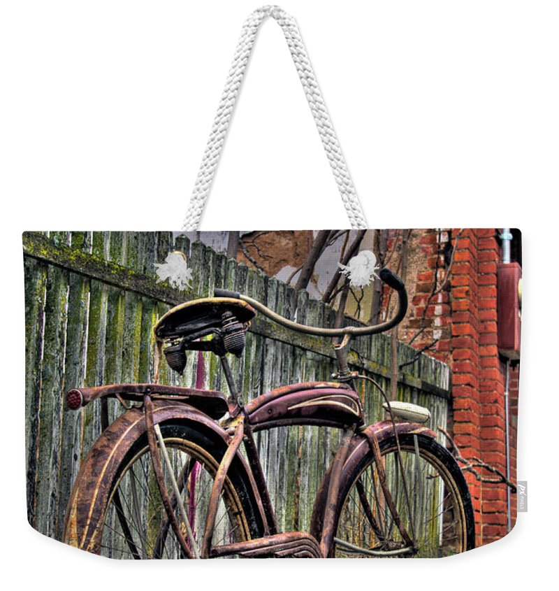 Bicycle Weekender Tote Bag featuring the photograph Forgotten Ride 2 by Jim And Emily Bush