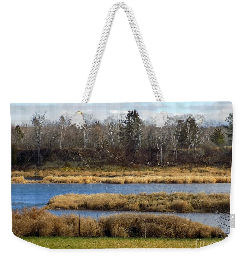 River Weekender Tote Bag featuring the photograph Fork In The River by William Tasker
