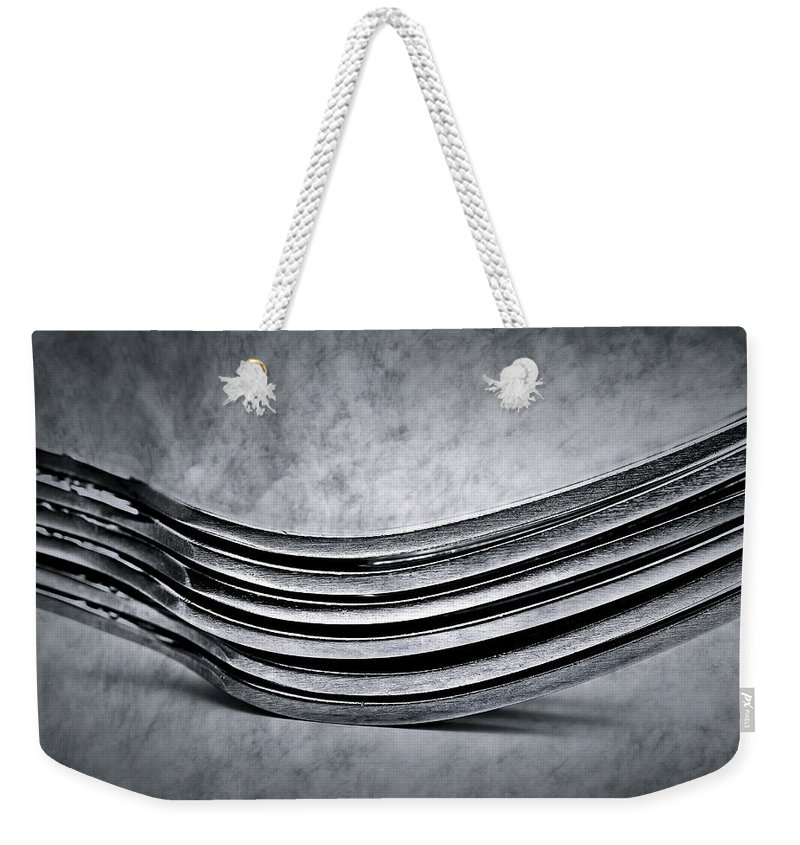 Flatware Weekender Tote Bag featuring the photograph Forks - Antique Look by Onyonet Photo Studios