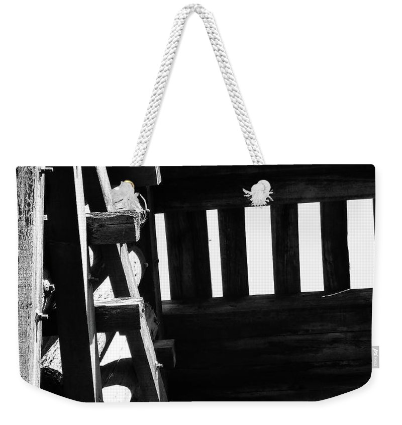 Black And White Weekender Tote Bag featuring the photograph Form And Function 3 by Xueling Zou