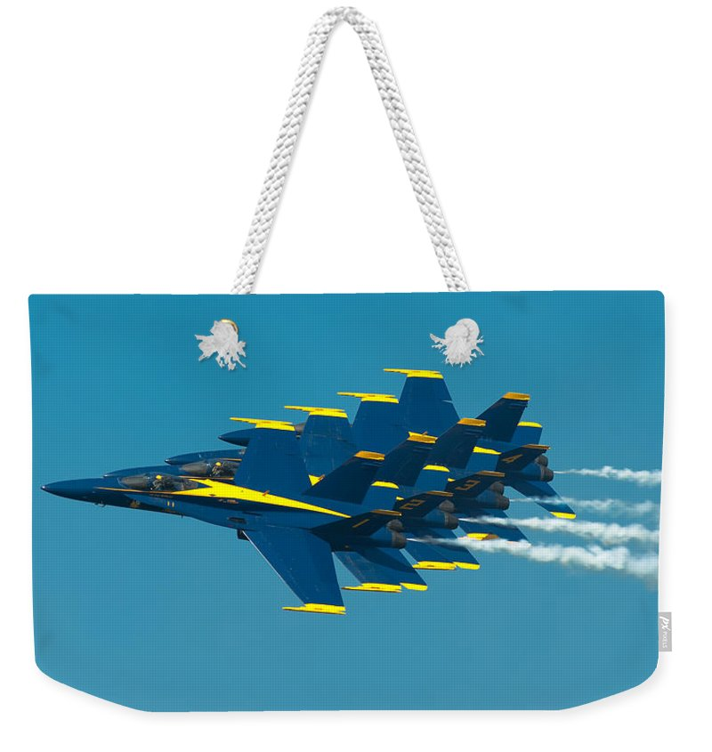 Us Navy Weekender Tote Bag featuring the photograph Formation by Sebastian Musial