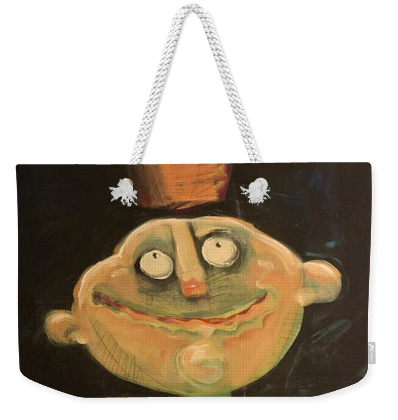 Man Weekender Tote Bag featuring the painting Forrest The Florist by Tim Nyberg