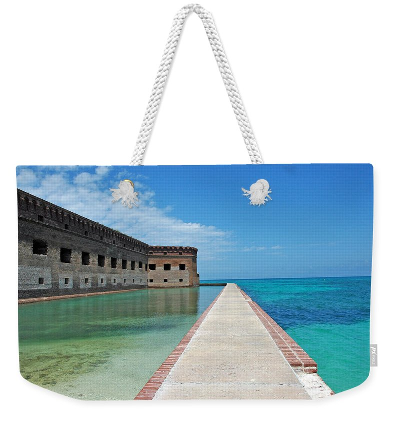Fort Jefferson Weekender Tote Bag featuring the photograph Fort Jefferson Dry Tortugas by Susanne Van Hulst