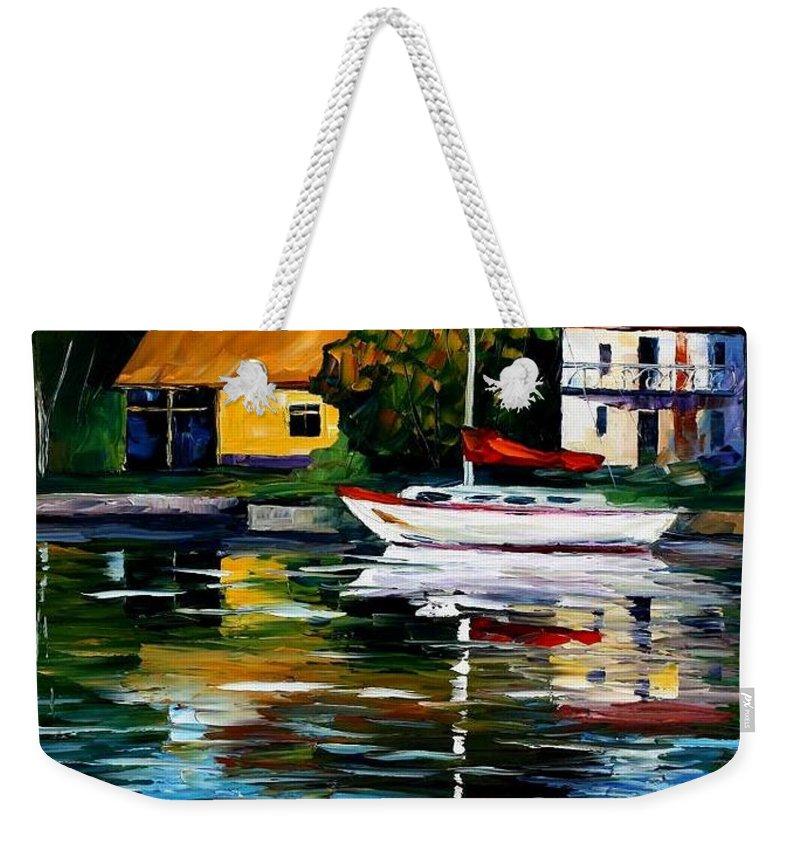 Afremov Weekender Tote Bag featuring the painting Fort Lauderdale - Florida by Leonid Afremov