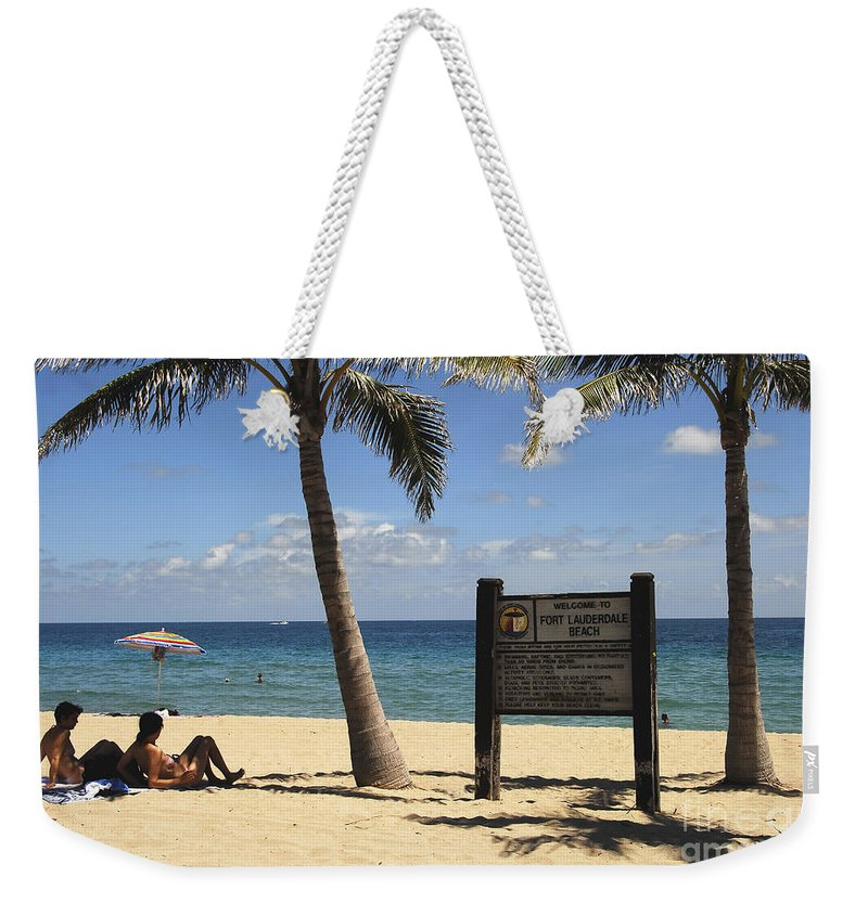 Fort Lauderdale Beach Florida Weekender Tote Bag featuring the photograph Fort Lauderdale Beach by David Lee Thompson