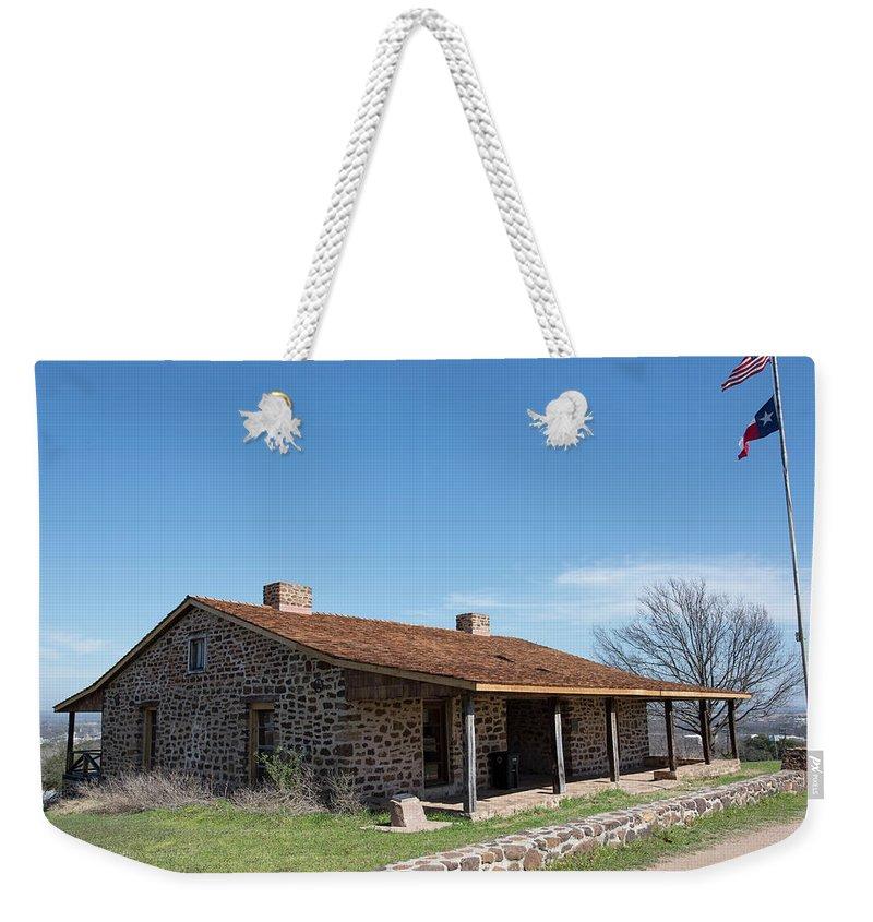 Fort Weekender Tote Bag featuring the photograph Fort Mason Texas by Kevin McCollum