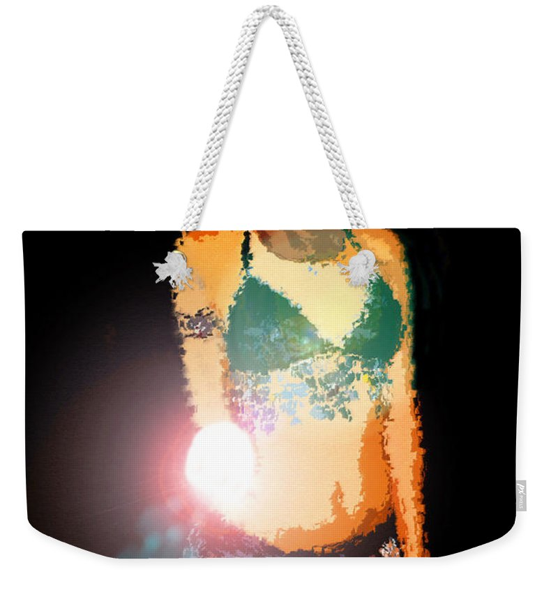 Fortuna Weekender Tote Bag featuring the painting Fortuna by David Lee Thompson