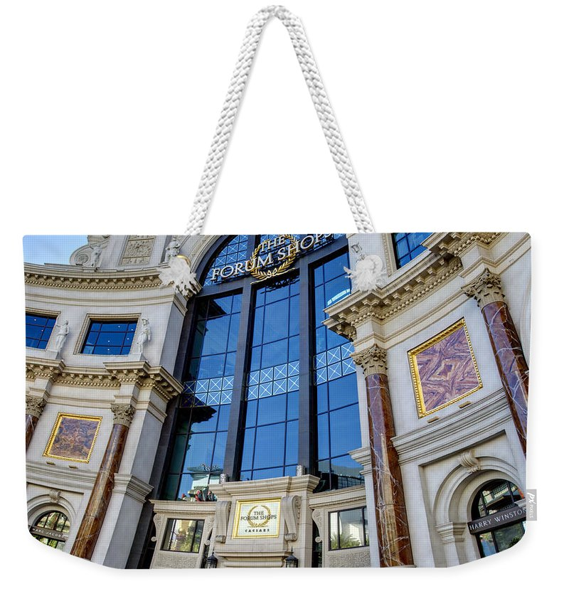 Forum Weekender Tote Bag featuring the photograph Forum Shops by Ricky Barnard