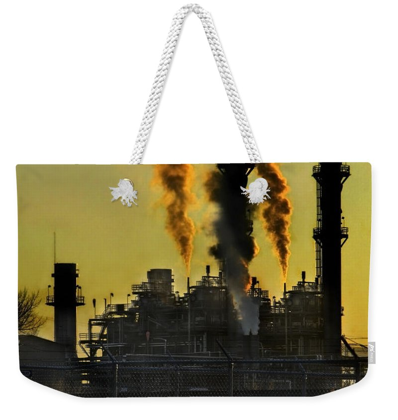 Smoke Weekender Tote Bag featuring the photograph Fossil Fuels by Jeffery Ball