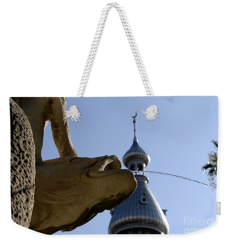University Of Tampa Weekender Tote Bag featuring the photograph Fountain At Ut by David Lee Thompson